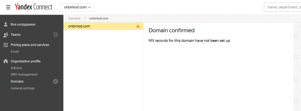 yandex kurumsal mail alan doğrulandı