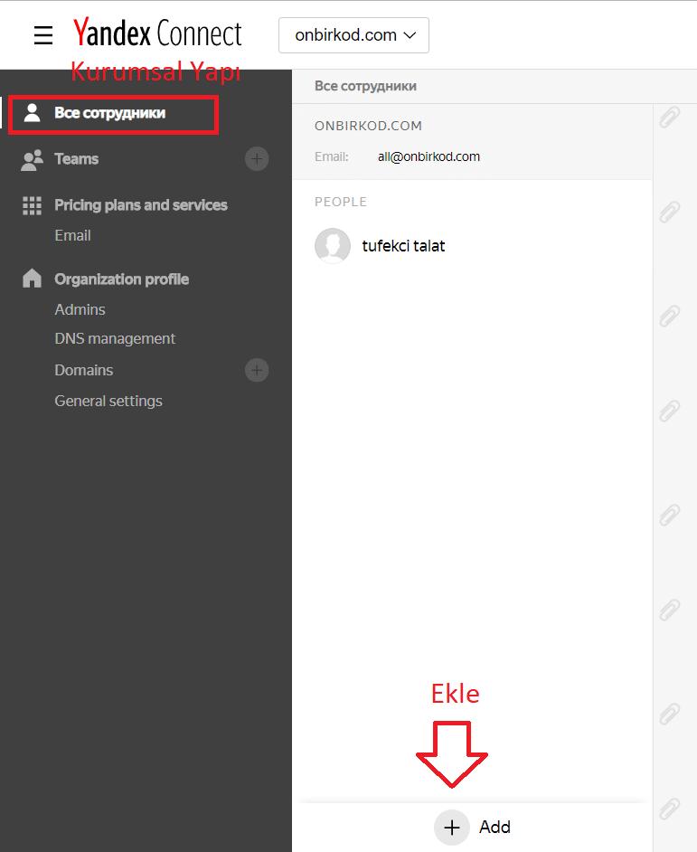 kurumsal kullanıcı ekle